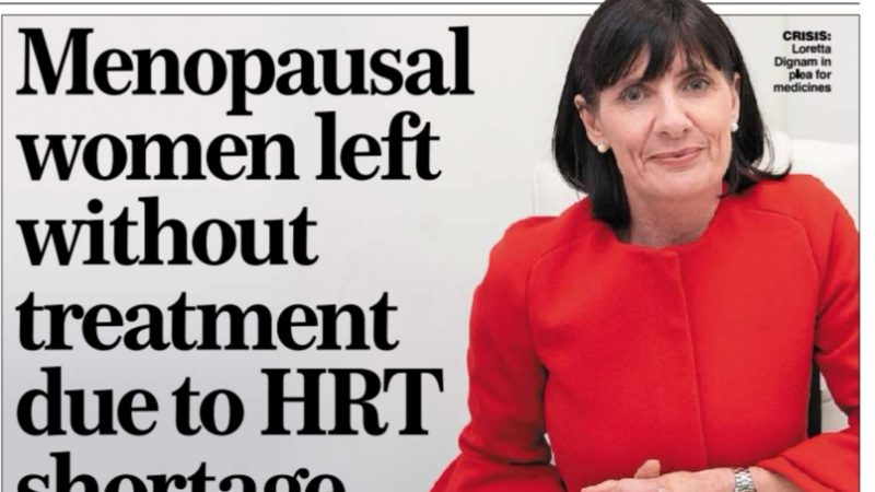 HRT shortages affect Irish women
