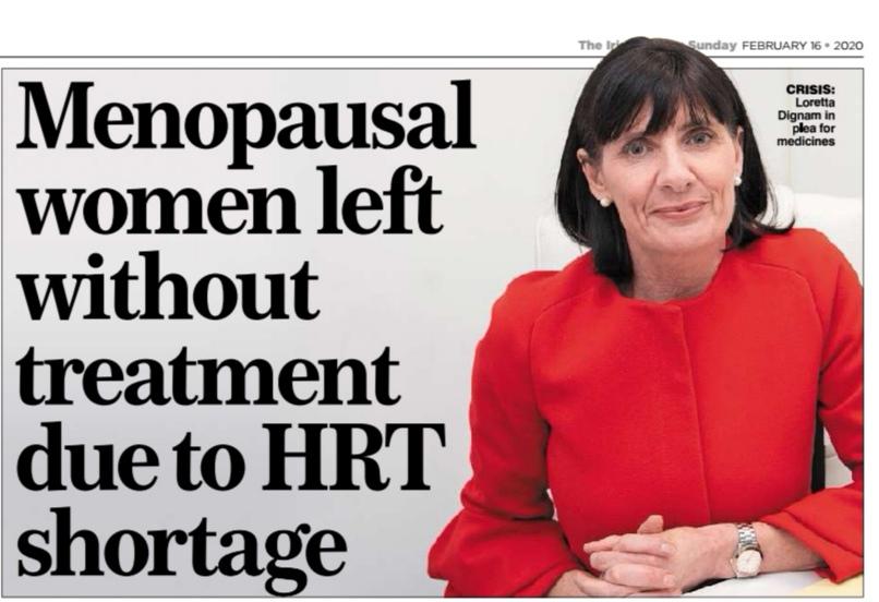 HRT shortages affect Irish women